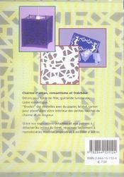 Esprit dentelle - 4ème de couverture - Format classique