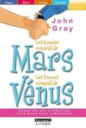 Les hommes viennent de Mars, les femmes viennent de Vénus - Couverture - Format classique