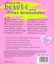 Trucs De Beaute Pour Filles Branchees - 4ème de couverture - Format classique