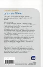 Le mas des tilleuls - 4ème de couverture - Format classique