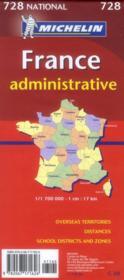 France départementale et administrative (édition 2012) - 4ème de couverture - Format classique