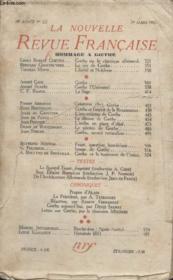 Collection La Nouvelle Revue Francaise N° 222. Hommage A Goethe. - Couverture - Format classique