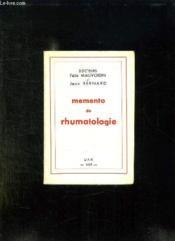 Memento De Rhumatologie. - Couverture - Format classique