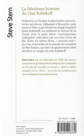 La fabuleuse histoire du clan Kabakoff - 4ème de couverture - Format classique