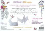 Coloriages 100% filles - 4ème de couverture - Format classique