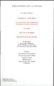 Romans et nouvelles ; 1959-1977 - 4ème de couverture - Format classique