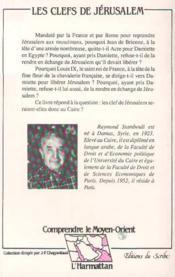 Clefs De Jerusalem. Deux Croisades Francaises En Egy - 4ème de couverture - Format classique