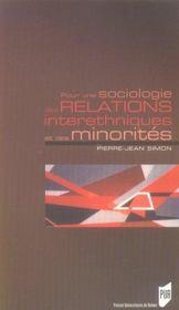 Pour une sociologie des relations interethniques et des minorités - Intérieur - Format classique