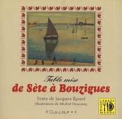 Table mise ; de Sète à Bouzigues - Couverture - Format classique
