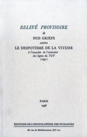À l'occasion de l'extension des lignes du TGV ; alliance pour l'opposition à toutes les nuisances - Couverture - Format classique