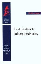 Le droit dans la culture americaine - Intérieur - Format classique