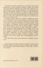 Le théâtre français de l'âge classique t.2 ; l'apogée du classicisme - 4ème de couverture - Format classique