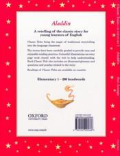 Aladdin niveau: 1 - 4ème de couverture - Format classique