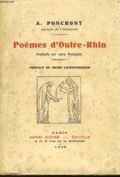 Poemes D'Outre-Rhin - Couverture - Format classique