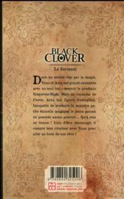 Black Clover T.1 - 4ème de couverture - Format classique