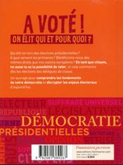 A voté ! on élit qui et pour quoi ? - 4ème de couverture - Format classique