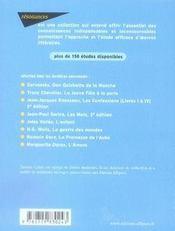 Étude sur candide (2e édition) - 4ème de couverture - Format classique