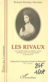 Les Rivaux ; Une Comedie Jouee Aux Theatre Royaux De Drury Lane Et Covent Garden 17 Janvier 1775 - Intérieur - Format classique