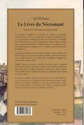 Le Livre Du Necromant - 4ème de couverture - Format classique
