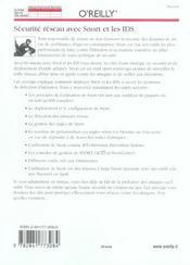 Securite Reseau Avec Snort Et Ids - 4ème de couverture - Format classique