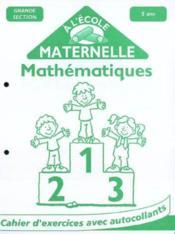 P* a la maternelle/5+ mathematiques - Couverture - Format classique