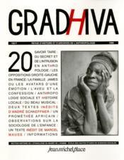 Revue Gradhiva N.20 - Couverture - Format classique