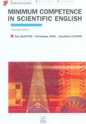 Minimum competence in scientifc english ned 2005 - Intérieur - Format classique