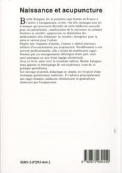 Naissance et acupuncture (3e édition) - 4ème de couverture - Format classique
