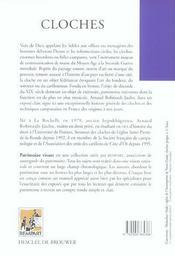 Cloches ; voix de Dieu, messagères des hommes - 4ème de couverture - Format classique