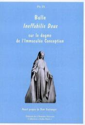 Bulle Ineffabilis Deus - Couverture - Format classique