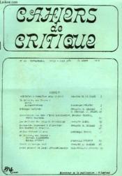 CAHIERS DE CRITIQUE, N°23, AVRIL-JUIN 1981, 6e ANNEE - Couverture - Format classique