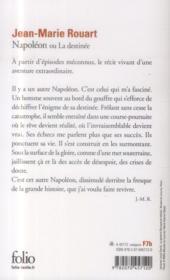 Napoléon ou la destinée - 4ème de couverture - Format classique