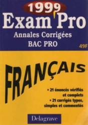 Exam'pro 1999 no4 -annales corrigées maths sciences bep/cap - Couverture - Format classique