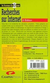 Se Former A La Recherche Sur Internet En Un Jour - 4ème de couverture - Format classique