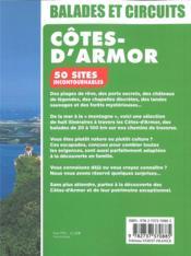 Côtes d'Armor, 50 sites incontournables ; circuits routiers, idées de randonnées, 10 cartes, 220 photos - 4ème de couverture - Format classique