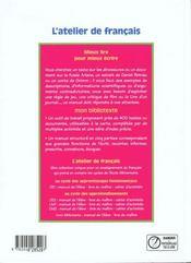 Français ; cycle 3 ; manuel de l'élève - 4ème de couverture - Format classique