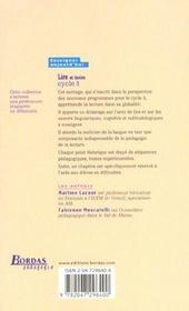 Lire et ecrire cycle 3 - 4ème de couverture - Format classique