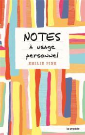 Notes à usage personnel - Couverture - Format classique