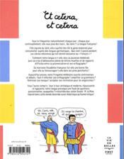 Et cetera, et cetera - 4ème de couverture - Format classique