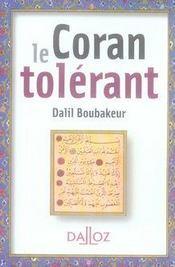 Le Coran tolérant - Intérieur - Format classique