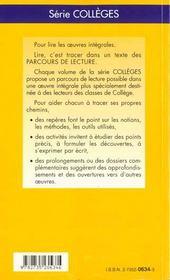 Le médecin malgre lui, de Molière - 4ème de couverture - Format classique