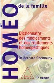 Dictionnaire des médicaments et des traitements homéopathiques - Intérieur - Format classique