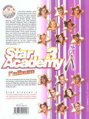 Star Academy 3 : L'Album - 4ème de couverture - Format classique