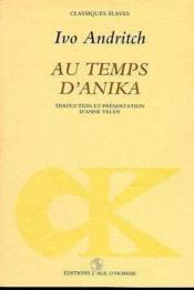 Au temps d'anika - Couverture - Format classique