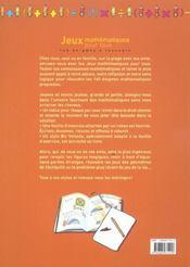 Jeux Mathematiques Pour Tous ; 160 Enigmes A Resoudre - 4ème de couverture - Format classique