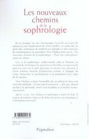 Les nouveaux chemins de la sophrologie - 4ème de couverture - Format classique