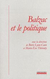 Balzac et le politique - Intérieur - Format classique
