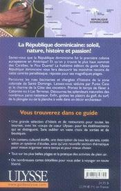 République dominicaine (8e édition) - 4ème de couverture - Format classique