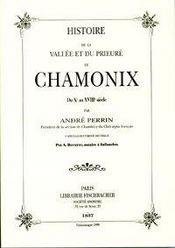 Histoire De La Vallee Et Du Prieure De Chamonix - Intérieur - Format classique