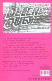 Delenda ouest - 4ème de couverture - Format classique